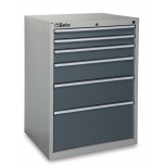 C35/6G-MOBILE ROLLER CAB 6 DRAWERS GREY