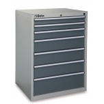 C35/7G-MOBILE ROLLER CAB 7 DRAWERS GREY