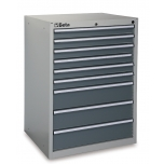 C35/9G-MOBILE ROLLER CAB 6 DRAWERS GREY