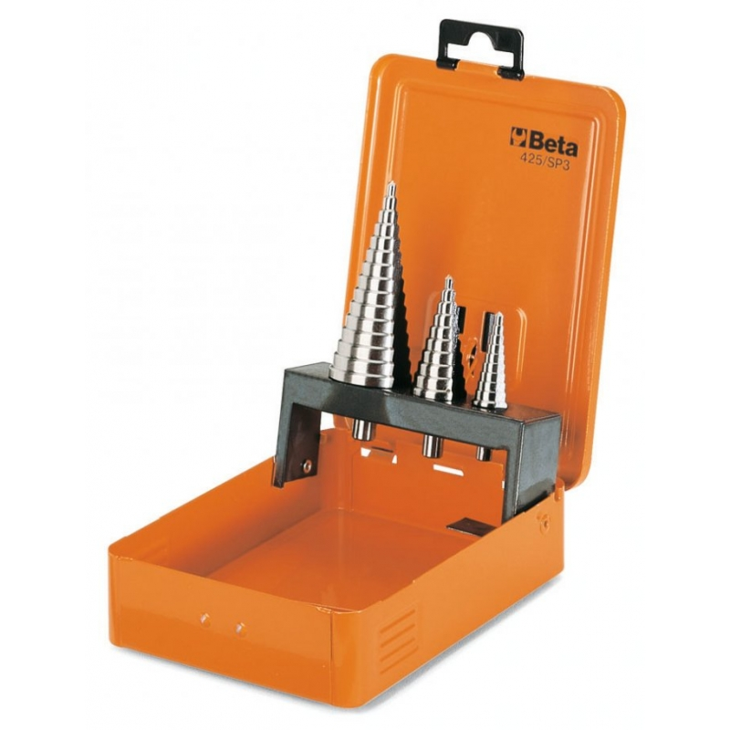 425-/SP3-SET 3PCS STEP DRILL BITS