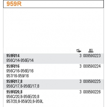 959-R/16-RUBBER+SPRING X 959