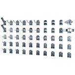 Perfoseina kinnituskonksude komplekt, 50 tk
