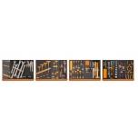Tööriistavalik pehmes vahtplastis, 130 osaline 5904VG/3M