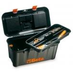 Tööriistakast, pikk variant, plastikust, eemaldatavate karpidega, tööriistakomplektiga