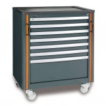 C55 C7-MOBILE ROLLER CAB 7 DRAWERS GREY