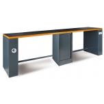 Töökojalaud 4 meetrit C55PRO BO/D4, oranž