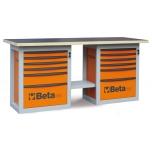 Töölaud 12 sahtliga, oranž C59 B-O