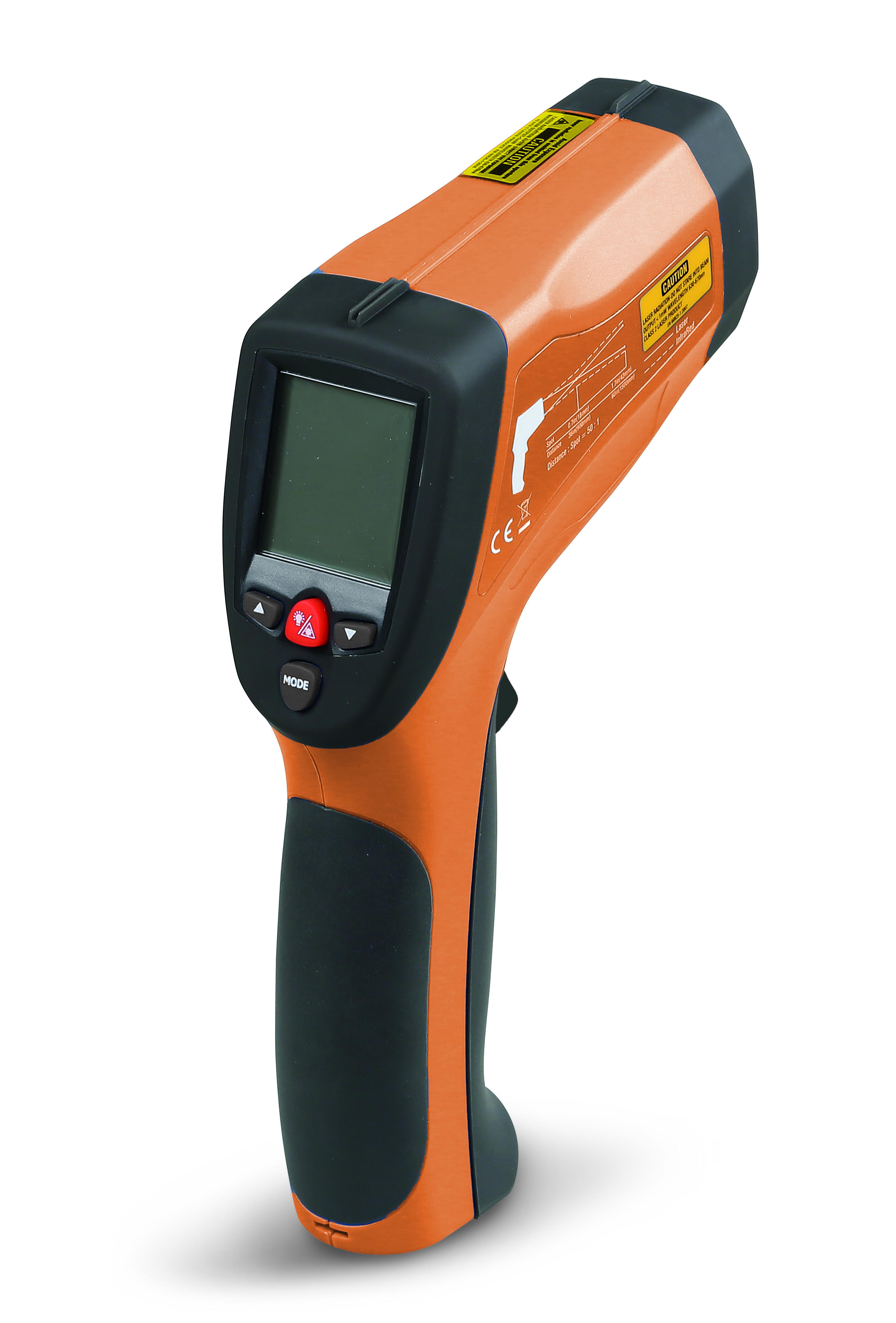 Digitaalne infrapuna termomeeter, ühe laserkiirega