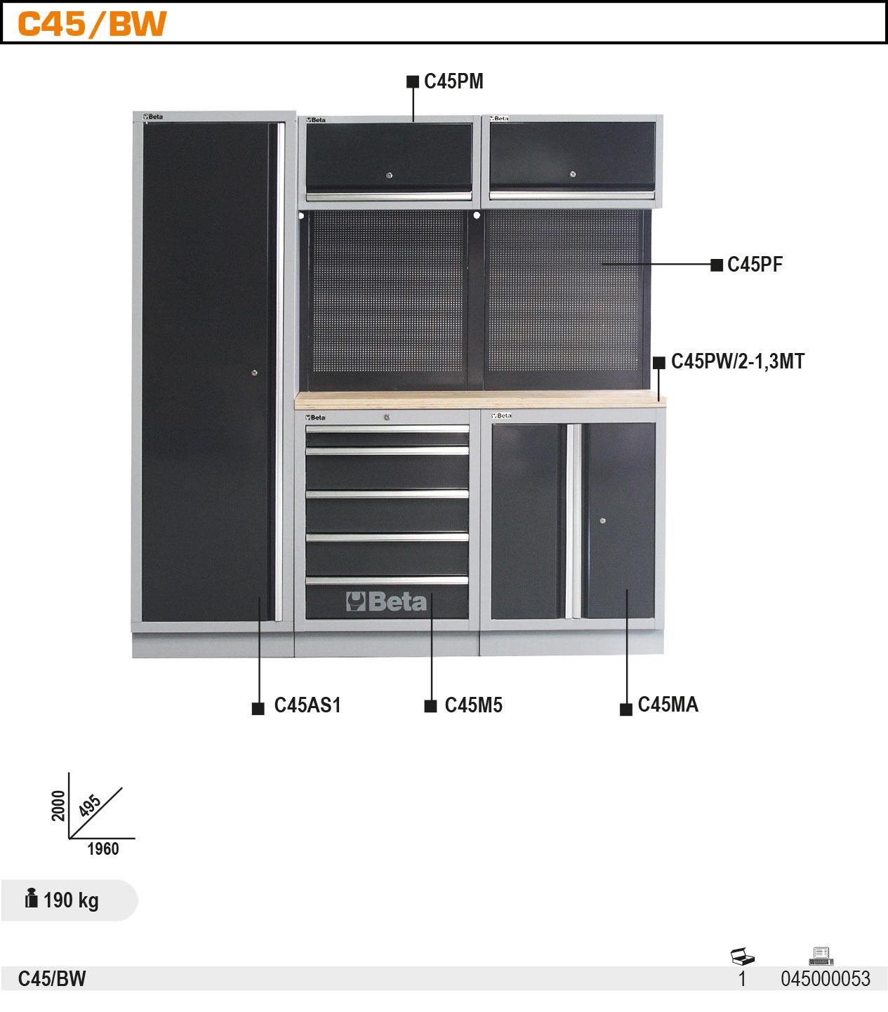 Töökoja sisustuse komplektC45